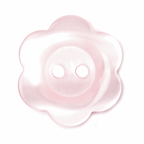 2-hole Pink 6-Petal Flower Buttons