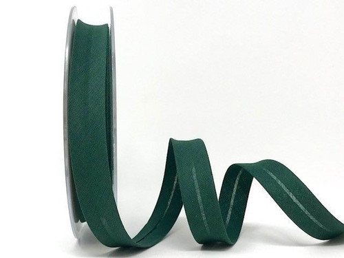 Bottle Green Polycotton Bias Binding, 18mm wide, Sold Per Metre