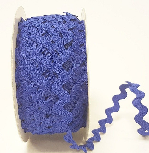 Royal Blue 13mm Large Ric Rac Trim, Sold Per Metre