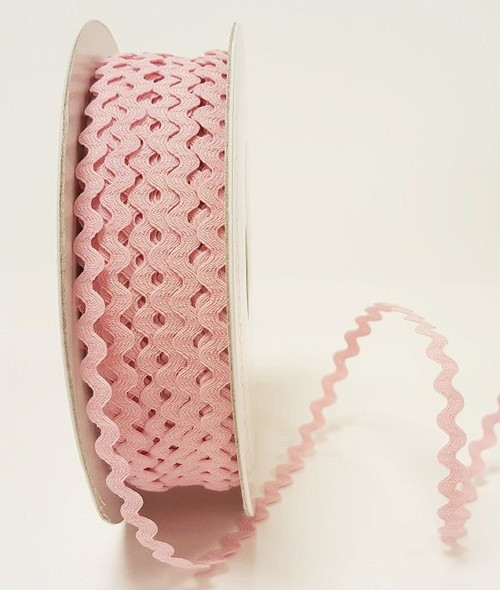 Pale Pink 7mm Ric Rac Trim, Sold Per Metre