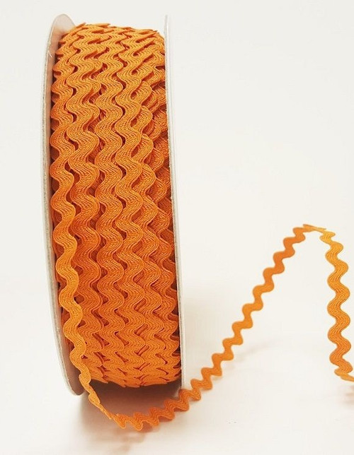 Orange 7mm Ric Rac Trim, Sold Per Metre
