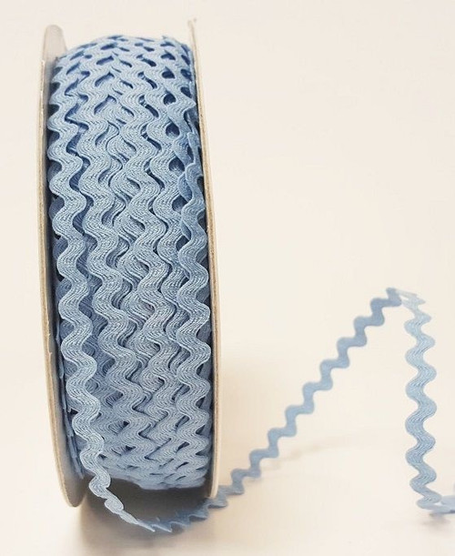 Sky Blue 7mm Ric Rac Trim, Sold Per Metre