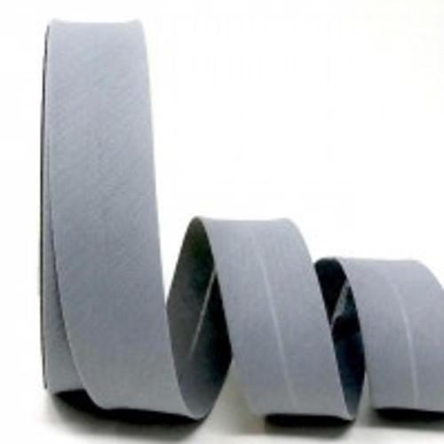 Dove Grey Polycotton Bias Binding, 30mm wide, Sold Per Metre