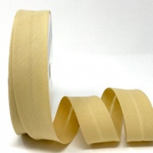 Beige Polycotton Bias Binding, 30mm wide, Sold Per Metre