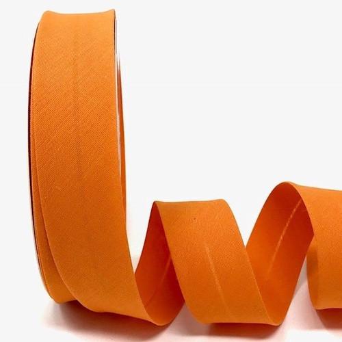 Orange Polycotton Bias Binding, 30mm wide, Sold Per Metre