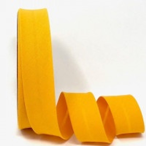 Duster Yellow Polycotton Bias Binding, 30mm wide, Sold Per Metre
