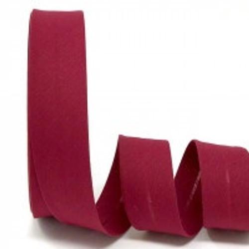 Burgundy Polycotton Bias Binding, 30mm wide, Sold Per Metre