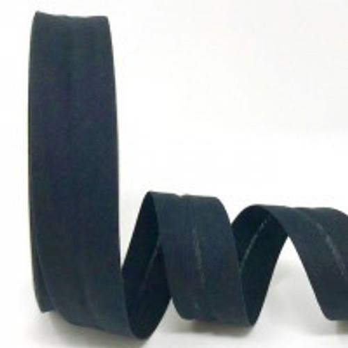 Black Polycotton Bias Binding, 30mm wide, Sold Per Metre