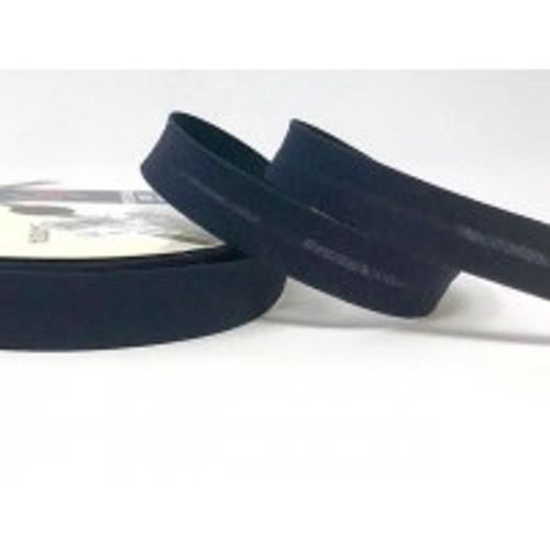 Dark Navy Polycotton Bias Binding, 18mm wide, Sold Per Metre