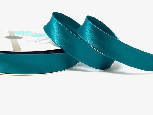 Jade Satin Bias Binding, 18mm wide, Sold Per Metre