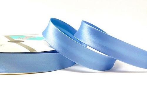 Powder Blue Satin Bias Binding, 18mm wide, Sold Per Metre
