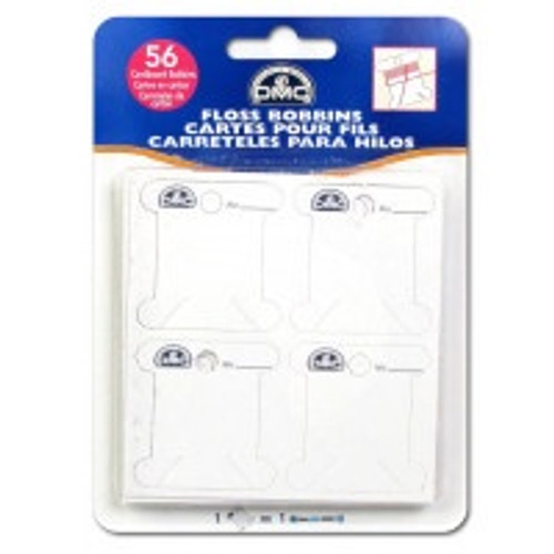 DMC Floss Card Bobbins (56pc)