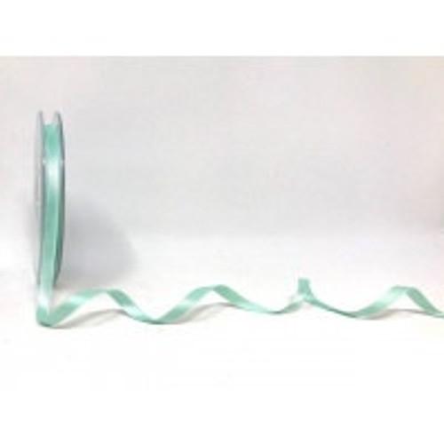 Aqua Satin Ribbon, 6.5mm wide, Sold Per Metre
