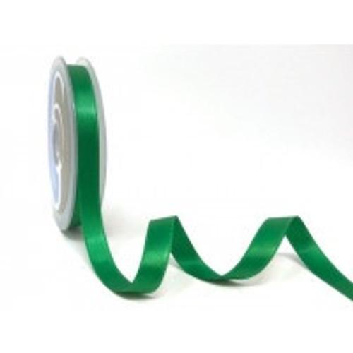 Emerald Green Satin Ribbon, 11mm wide, Sold Per Metre