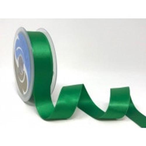 Emerald Green Satin Ribbon, 25mm wide, Sold Per Metre