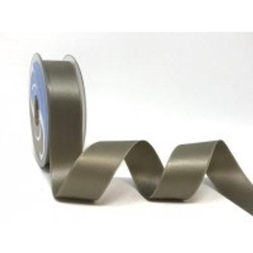 Sage Green Satin Ribbon, 25mm wide, Sold Per Metre