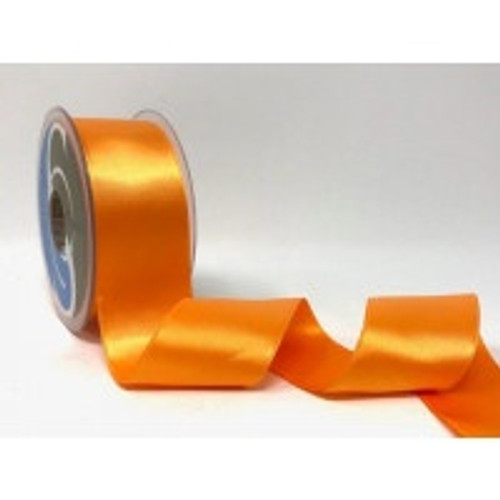 Light Orange Satin Ribbon, 38mm wide, Sold Per Metre