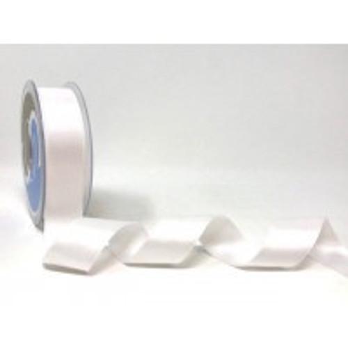 White Satin Ribbon, 25mm wide, Sold Per Metre