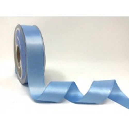 Pale Blue Satin Ribbon, 25mm wide, Sold Per Metre