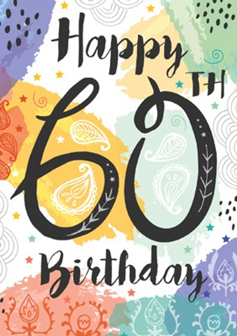 60 - Happy 60th Birthday Card