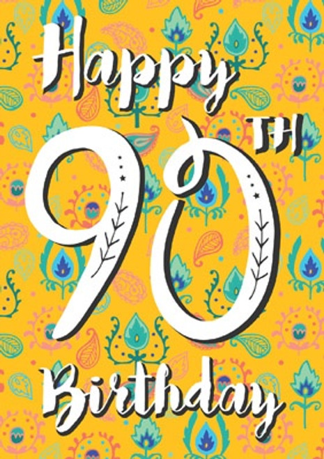 90 - Happy 90th Birthday Card