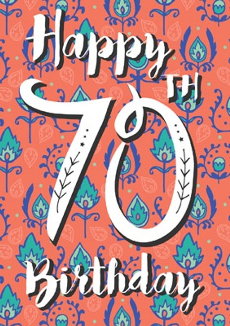 70 - Happy 70th Birthday Card