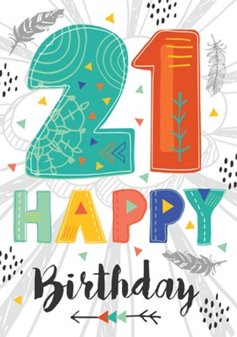 21 - 21st Happy Birthday Card