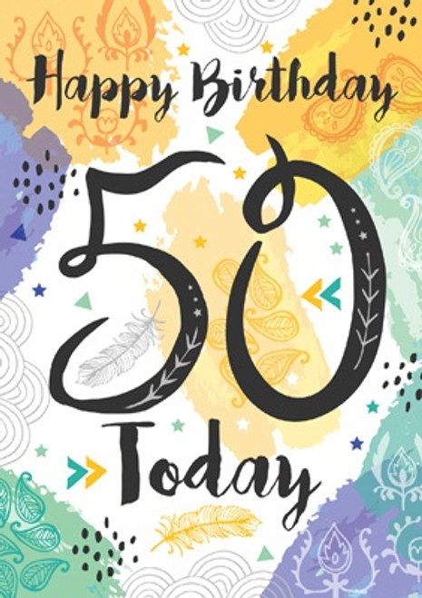 50 - 50 Today Birthday Card