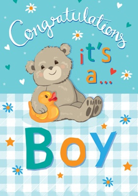 Congratulations It's a Boy Card