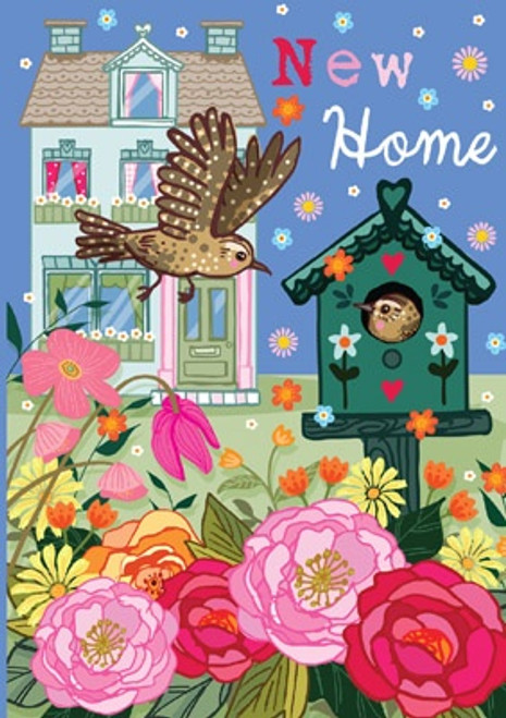 Bird House New Home Card