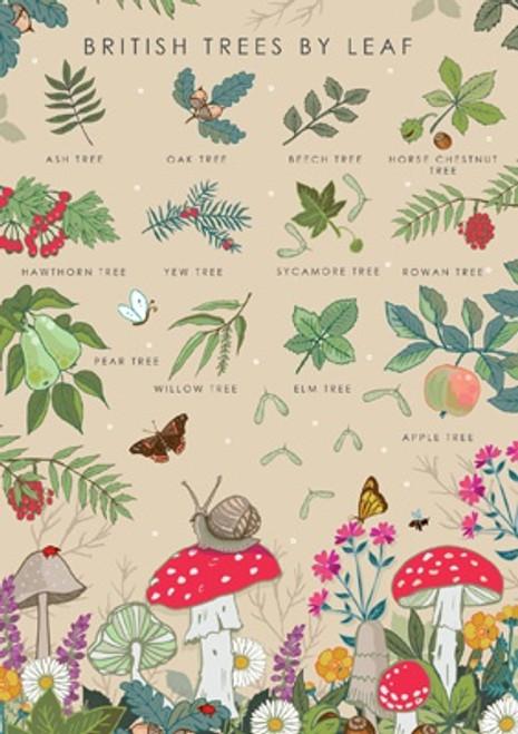 British Trees Blank Card
