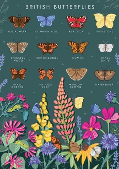 British Butterflies Blank Card