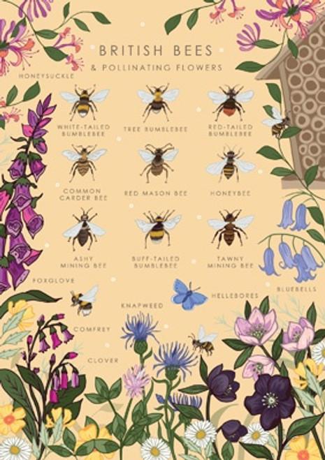 British Bees Blank Card