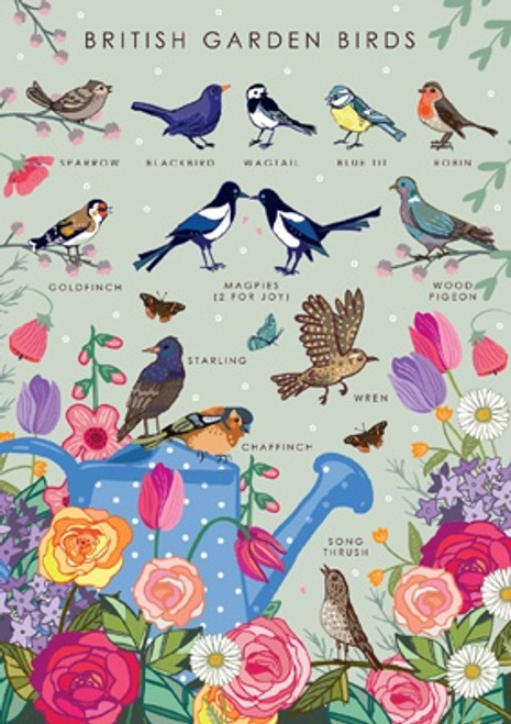 British Garden Birds Blank Card
