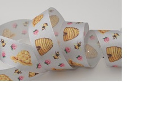 Bee Hive Ribbon, 25mm wide, Sold Per Metre