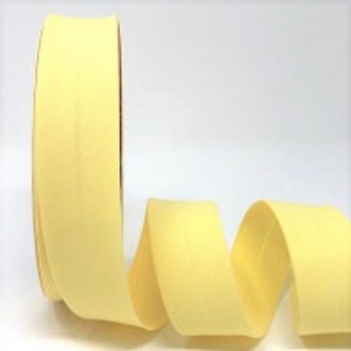 """Maize Plain Polycotton Bias Binding, 30mm wide, Sold Per Metre"""""""