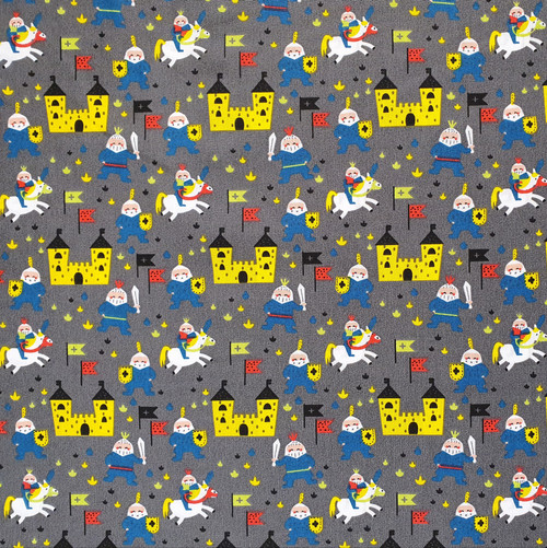 A Knights Quest Cotton Fabric, 140cm/55in wide, Sold Per HALF Metre