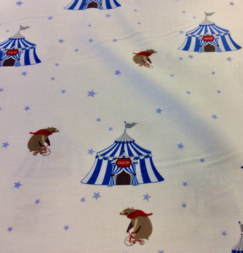 Circus Circus Cotton Fabric, 150cm/60in wide, Sold Per HALF Metre
