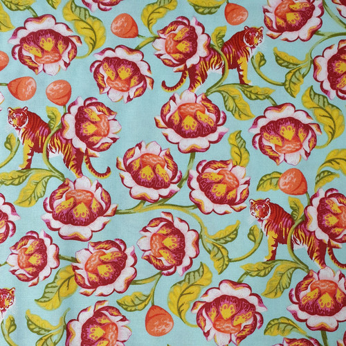 Eden Lotus by Tula Pink Cotton Fabric, 112cm/44in wide, Sold Per HALF Metre