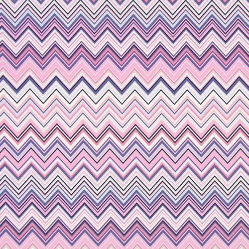 Zig Zag Cotton Fabric, 150cm/60in wide, Sold Per HALF Metre
