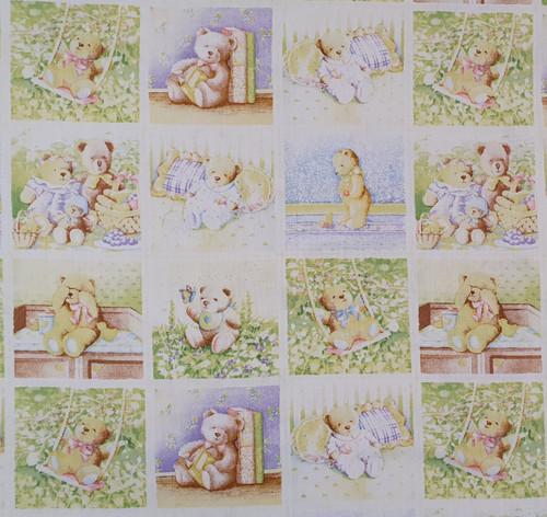 Teddy Bear Nursery Cotton Fabric, 112cm/44in wide, Sold Per HALF Metre