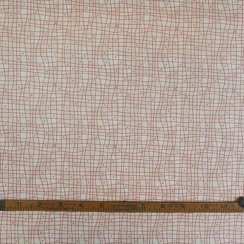 Heart & Home Red & Beige Checker Cotton Fabric, 112cm/44in wide, Sold Per HALF Metre
