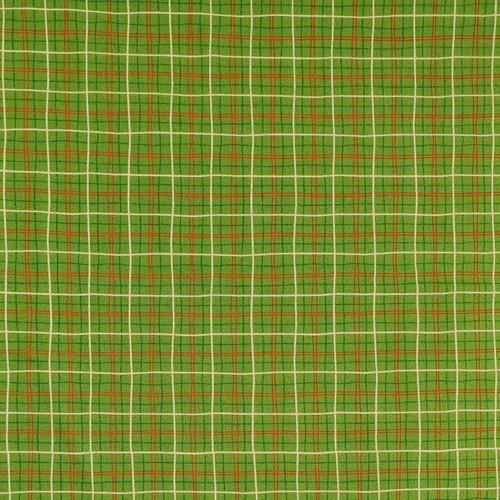 Lunch Box Check Green Cotton Fabric, 112cm/44in wide, Sold Per HALF Metre