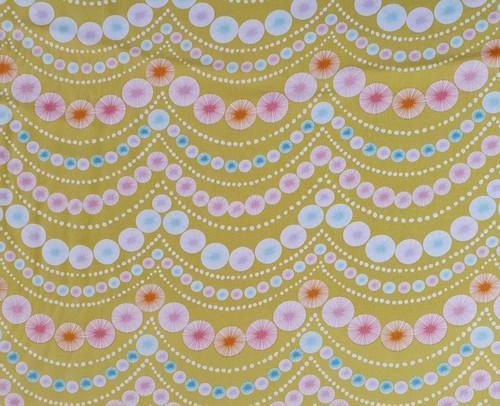 Pom Pom Garlands Cotton Fabric, 112cm/44in wide, Sold Per HALF Metre
