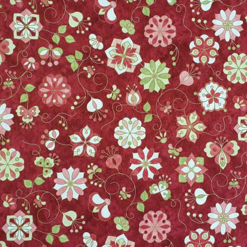Mulberry Lane Cotton Fabric, 112cm/44in wide, Sold Per HALF Metre