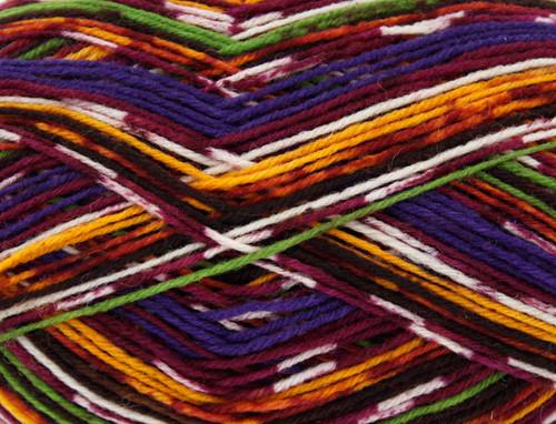 Autumn Glory Zig Zag 4 Ply Sock Wool (100g)