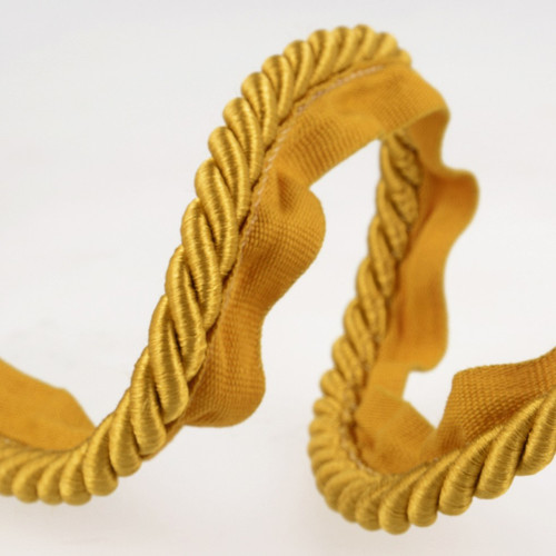 Gold Flanged Piping Cord, 18mm wide, Sold Per Metre