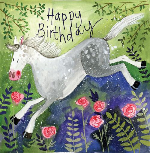 Rosie Horse Birthday card