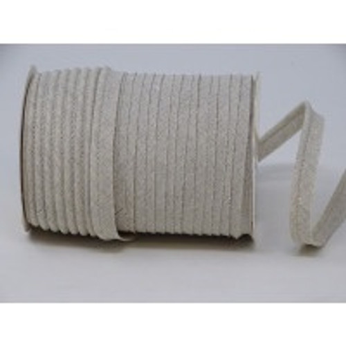 Oatmeal Linen Piping, 10mm wide, Sold Per Metre
