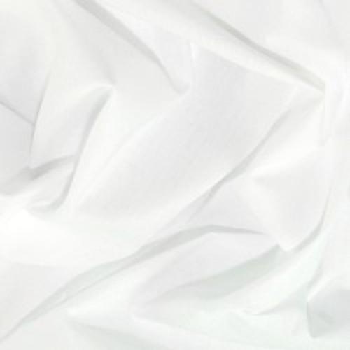 White Plain Polycotton Fabric, 44in wide, Sold Per HALF Metre